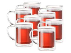 Set de 8 mugs en verre à double paroi
