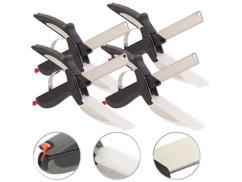 4 trancheurs de cuisine 2 en 1 : couteau-ciseaux avec mini planche à découper
