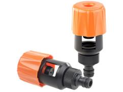 2 adaptateurs universels de robinet pour tuyau d'arrosage
