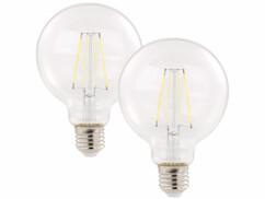 2 ampoules LED à filament E27 - 806 lm - 6 W - Blanc neutre