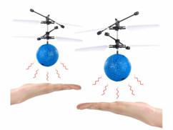 2 balles volantes hélicoptères à éclairage LED multicolore