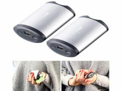 2 batteries de secours 5200 mAh et réchauffe-mains