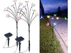 2 bouquets solaires à 8 fleurs multicolores