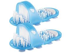 2 brosses de soin et massage pour pieds