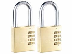 2 cadenas à code 4 chiffres - Laiton - 50 mm