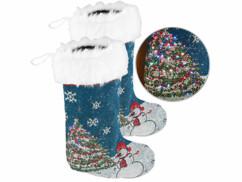 2 chaussettes de Noël à LED
