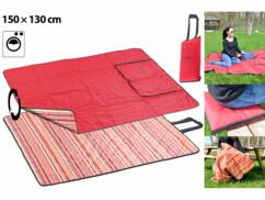 2 couvertures de pique-nique - 150 x 130 cm