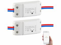2 interrupteurs connectés compatibles Amazon Alexa & Google Assistant