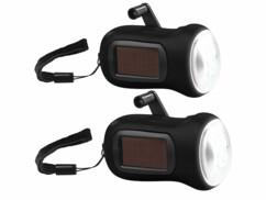 2 lampes de poche solaires avec dynamo LTL-15.ds