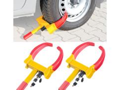 2 sabots de roue universels pour pneus jusqu'à 265 mm