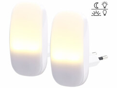 2 veilleuses à LED avec détecteur d'obscurité 1 lm / 0,25 W
