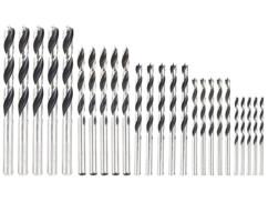 Lot de 25 forets à bois de 3 à 8 mm par AGT.