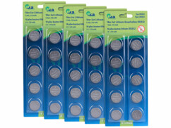 Lot de 25 piles bouton lithium CR2032 TKA.
