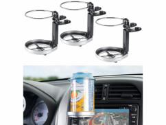 3 porte-gobelets pour grille de ventilation de véhicule