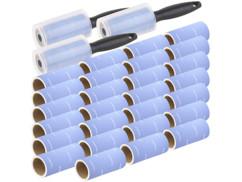 3 rouleaux adhésifs anti-peluche avec 27 rouleaux de recharge