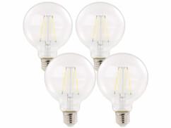 4 ampoules LED à filament E27 - 806 lm - 6 W - Blanc neutre