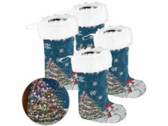 4 chaussettes de Noël à LED