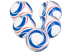5 ballons de football spécial entraînement taille 5 - 440 g