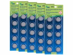 50 piles bouton CR2025 - 3 V - 160 mAh