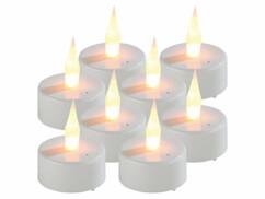 8 bougies chauffe-plat LED à souffler