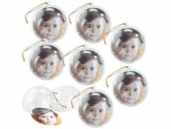 8 boules de Noël personnalisables avec une photo