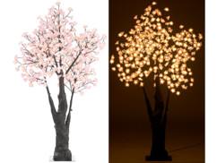 Arbre à LED, Cerisier 150 cm avec 384 fleurs lumineuses blanc chaud - IP44