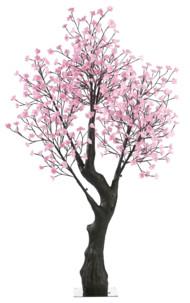 Arbre à LED, Cerisier 200 cm avec 576 fleurs lumineuses blanc chaud - IP44