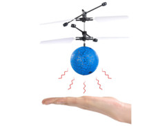 Balle volante hélicoptère à éclairage LED multicolore
