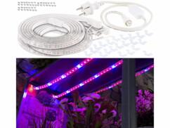 Bandes de culture à LED avec adaptateur secteur - 9 m