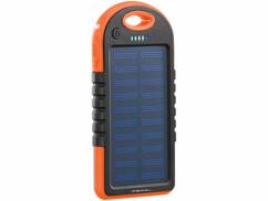 Batterie de secours solaire 3000mAh avec 2 ports USB + mini lampe LED PB-30.s