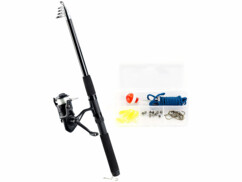 Canne à pêche téléscopique 150 cm avec 27 accessoires