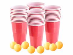 Set de Bière-Pong avec 8 balles et 96 gobelets.