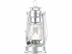 Lampe-tempête LED rechargeable à intensité variable 200lm/ 3W/ 8000K - Argent