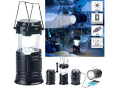Lanterne de camping solaire à LED 80 lm avec fonction batterie de secours USB