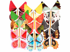 Lot de 12 papillons géants volants