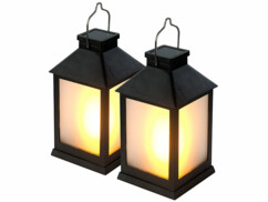 Lot de 2 lanternes de jardin solaires à 32 LED effet flamme