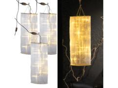 Lot de 3 lampes colonnes à LED - 60 cm