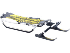 Luge en aluminium avec patins avant orientables