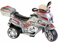 jouet moto electrique pour enfant avec petite fille