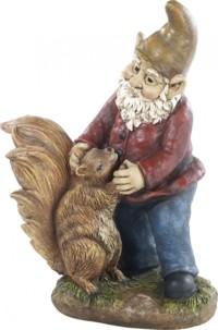 Nain de jardin ''Edi avec son écureuil''