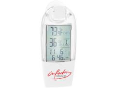 Thermomètre-hygromètre solaire avec ventouse