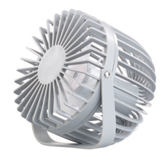 mini ventilateur de table blanc avec alimentation par USB sans batterie