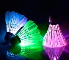 Volant de badminton couleurs changeantes - 3 volants