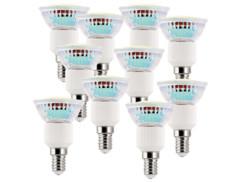 10 ampoules 39 LED SMD E14 3 W -  blanc chaud