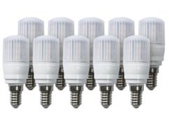 10 ampoules compactes LED 3,5 W avec éclairage 360° - E14 - Blanc chaud