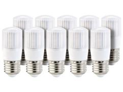 10 ampoules compactes LED 3,5 W avec éclairage 360° - E27 - Blanc