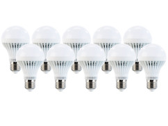 10 ampoules LED 7 W E27 Blanc Luminea