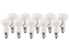 10 ampoules LED avec réflecteur, 6 W, E14 - Blanc Chaud