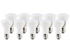 10 ampoules LED avec réflecteur, 8 W, E27 - Blanc Chaud