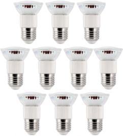 10 ampoules LED dimmables, culot E27, blanc neutre